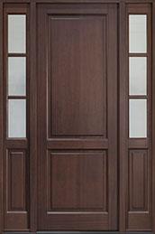 Classic Series Mahogany Wood Front Door  - GD-202PT2SL