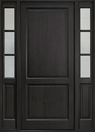 Classic Mahogany Wood Front Door  - GD-202PW 2SL