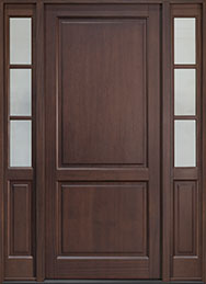 Classic Series Mahogany Wood Front Door  - GD-202PW 2SL