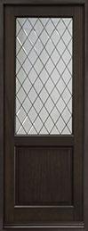 Classic Series Mahogany Wood Front Door  - GD-203PTDG