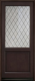 Classic Mahogany Wood Front Door  - GD-203PWDG