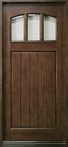Craftsman Series Mahogany Wood Front Door  - GD-211