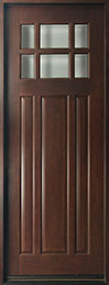 Classic Mahogany Wood Front Door  - GD-311T CST