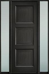 Classic Mahogany Wood Front Door  - GD-314PT 2SL-F