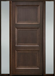 Classic Mahogany Wood Front Door  - GD-314PW 2SL-F
