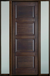Classic Series Mahogany Wood Front Door  - GD-4000PT 2SL-F