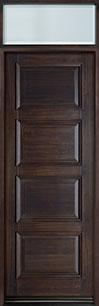 Classic Series Mahogany Wood Front Door  - GD-4000PT TR-EN1