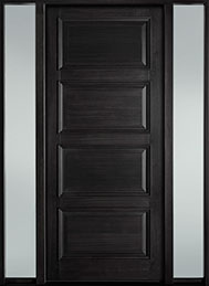 Classic Series Mahogany Wood Front Door  - GD-314PW 2SL-F