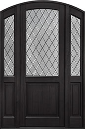 Classic Series Mahogany Wood Front Door  - GD-552PTDG 2SL