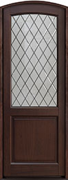 Classic Mahogany Wood Front Door  - GD-552PTDG