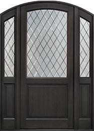 Classic Mahogany Wood Front Door  - GD-552PWDG 2SL