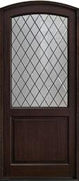 Classic Series Mahogany Wood Front Door  - GD-552PWDG