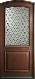French Mahogany Wood Front Door  - GD-552WDG CST