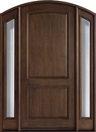 French Mahogany Wood Front Door  - GD-552W 2SL