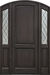 Classic Series Mahogany Wood Front Door  - GD-554PTDG 2SL