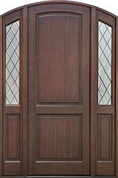Classic Series Mahogany Wood Front Door  - GD-554PTDG 2SL