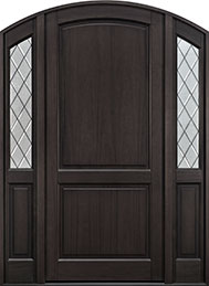Classic Series Mahogany Wood Front Door  - GD-554PWDG 2SL