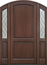 Classic Series Mahogany Wood Front Door  - GD-554PWDG 2SL