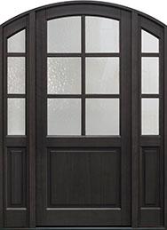 Classic Series Mahogany Wood Front Door  - GD-651PW 2SL