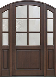 Classic Series Mahogany Wood Front Door  - GD-651PW 2SL