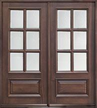 Classic Mahogany Wood Front Door  - GD-655S DD