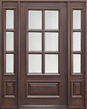 Classic Series Mahogany Wood Front Door  - GD-655 2SL