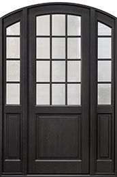 Classic Mahogany Wood Front Door  - GD-801PT 2SL
