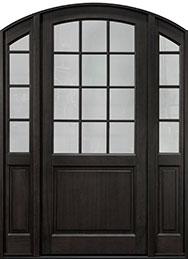 Classic Series Mahogany Wood Front Door  - GD-801PW 2SL