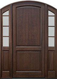 Classic Series Mahogany Wood Front Door  - GD-802PW 2SL