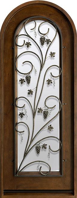 Wine-Cellar-Collection Mahogany Wood WineCellar Door - Single - DB-732 Grill