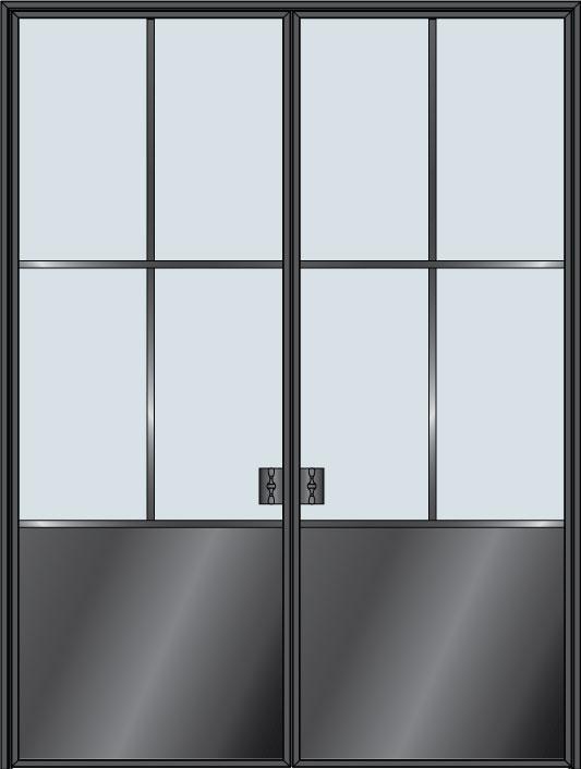 Custom Pivot   Door Example, - STL-W4P-DD 8