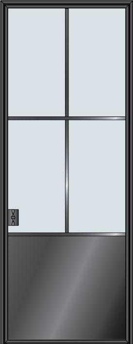 Custom Pivot   Door Example, - STL-W4P 2