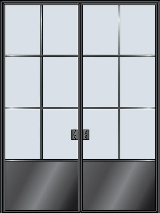 Custom Pivot   Door Example, - STL-W6P-DD 10