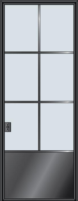 Custom Pivot   Door Example, - STL-W6P 4