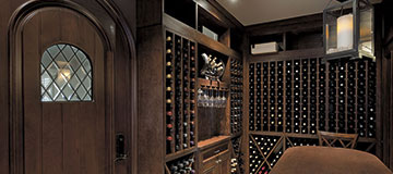 Custom Wine Cellar Interior Doors