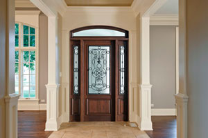 Heritage Entry Door.  Heritage Collection Custom Wood Front Entry Door DB-552G 2SL TR CST