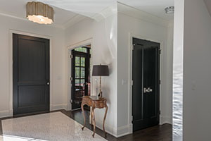 Traditional Interior Door.  Custom Mahogany Single Panel Closet Double Door DB-201PW