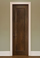 Traditional Interior Door.  Custom Interior 1 Flat Panel Solid Wood Door, Single DBI-1000B