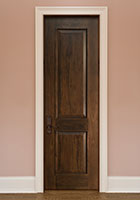 Traditional Interior Door.  Custom Interior 2 Panel Wood Door with Raised Moulding DBI-2000