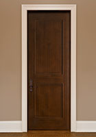 Traditional Interior Door.  Custom Interior 2 Flat Panel Solid Wood Door