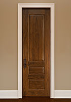 Traditional Interior Door.  Custom Interior 3 Raised Panel Solid Wood Door, Single DBI-611B