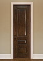 Traditional Interior Door.  Custom Interior 3 Raised Panel Solid Wood Door, Single DBI-611C