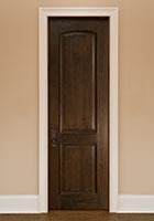 Traditional Interior Door.  Custom Interior Arched Top Wood Door with Raised Moulding DBI-701