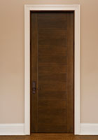 Traditional Interior Door.  Custom Modern Wood Door with Contemporary V-Grooves DBI-711