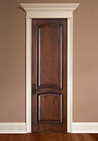 Traditional Interior Door.  Custom 2 Arched  Interior Wood Door with Raised Moulding DBI-2050 284