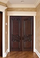Traditional Interior Door.  Custom Interior Wood Door with Detailed Carving DBI-9000