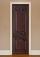 Traditional Interior Door.  Custom Interior Wood Door with Detailed Carving DBI-9000 282
