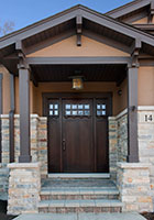 Craftsman Entry Door.  Craftsman Style Custom Front Entry Wood Door DB-311 2SL CST