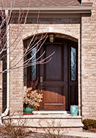 Classic Entry Door.  Custom Arched Top Mahogany Entry Door with Sidelites DB-552P 2SL CST