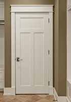 Traditional Interior Door.  Craftsman Style Custom Interior Paint Grade Wood Door